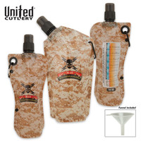 M48 Disposable Tailgating Flask Survival Canteen 3-Pack with Funnel UC2900