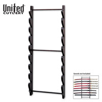 8-Piece Black Wall Mount Sword Display UC1060