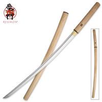 Ryumon Natural Wood Shirasaya Katana Sword