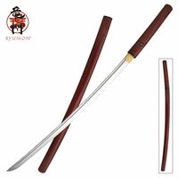 Ryumon Crimson Red Wood Shirasaya Katana Sword