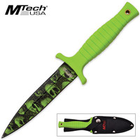 MTech Skull Mayhem Double Edged Fixed Blade Knife