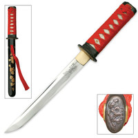 Autumn Leaves Hand Forged Carbon Steel Tanto Sword