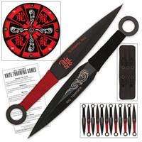 Angry Dragon Throwing Knife Set & Target