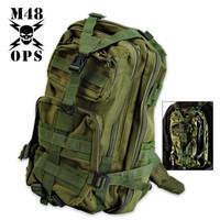 M48 Gear Tactical Knapsack Backpack Green
