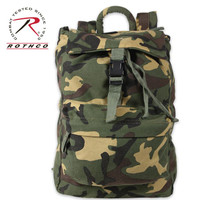 Canvas Day Pack Woodland Camo