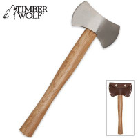 Timber Wolf Battle Throwing Axe Double Sided