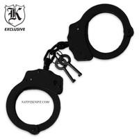 Police Handcuffs Double Locking Black Finish