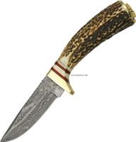"""8"""" WHITE TAIL DAMASCUS SKINNER KNIFE DM-1046"""