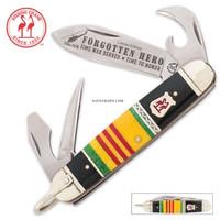 Kissing Crane Forgotten Heroes Vietnam Veteran Scout Folding Pocket Knife