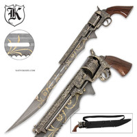 Otherworld Steampunk Gun Blade Sword