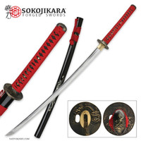 Sokojikara Mother of Pearl Dragon Katana Sword Battle Ready SJ009