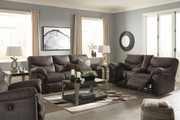 Boxberg Teak Reclining Sofa, Double Reclining Loveseat with Console & Rocker Recliner