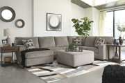 Ballinasloe Platinum LAF Corner Chaise, Armless Loveseat, RAF Sofa Sectional & Accent Ottoman