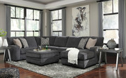 Tracling Slate Left Arm Facing Sofa, Armless Loveseat, Right Arm Facing Corner Chaise Sectional & Accent Ottoman