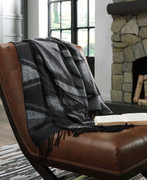 Cecile Black/Gray Throw