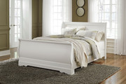 Anarasia White Queen Sleigh Bed