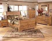 Bittersweet 7 Pc. Dresser, Mirror, Queen Sleigh Bed & 2 Nightstands