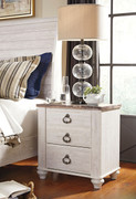Willowton Two-tone Two Drawer Night Stand