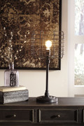 Javan Antique Black Metal Table Lamp