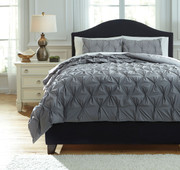 Rimy Gray Queen Comforter Set