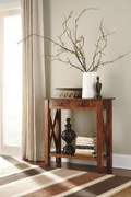 Abbonto Warm Brown Console Sofa Table