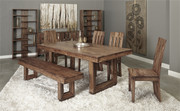 Brownstone Dining Collection - Table, 4 Chairs, & Bench