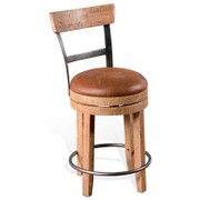 Metro Flex Rustic Swivel Stool