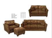 Best Craft 6231 Stationary Lodge Sofa
