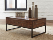 Hirvanton Warm Brown Lift Top Cocktail Table