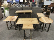 Solid Hickory promo occasional tables