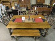 6 Pc Solid Hickory with Solid Elm Dining Set