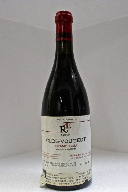 Domaine Rene Engel Clos de Vougeot Grand Cru 1988 750ml