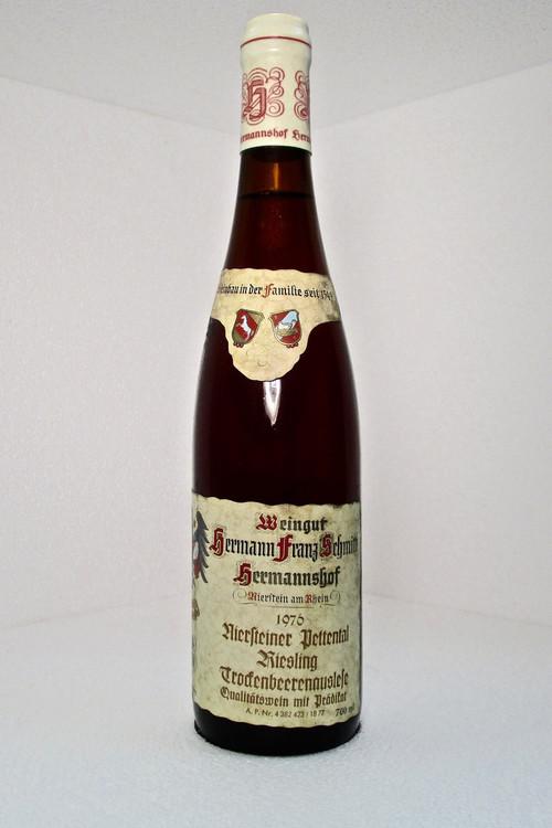 Hermann Franz Schmitt Niersteiner Pettenthal Riesling TBA #18  1976 700ml