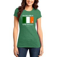 Irish Remember the Fallen Shirt - Ladies
