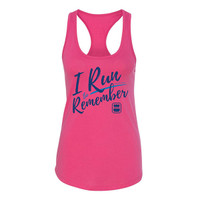 I Run to Remember Ladies Racerback Tank Top