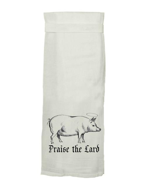 Twisted Wares Praise the Lard Hang Tight Dish Towel