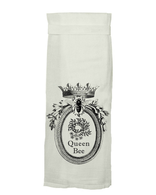 Twisted Wares Queen Bee Hang Tight Dish Towel