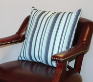 Blue Beach Stripe Pillow Cover 18""
