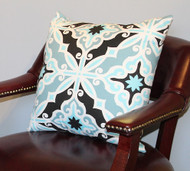 Aqua Diamond Pillow Cover 18""