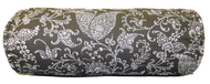 """Black Floral Paisley Bolster Pillow Cover 6""""x16"""""""