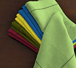 Hemstitch Dinner Napkins - Lime Green 20x20