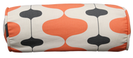 "Salmon Lava Lamp Bolster Pillow Cover 6""x16"""
