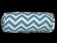 "Aqua Blue Chevron Bolster Pillow Cover 6""x16"""