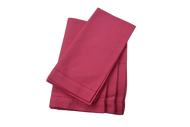 Hemstitch Dinner Napkins - Hot Pink 20x20