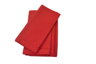 Hemstitch Dinner Napkins - Red 20x20