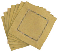 Hemstitch Cocktail Napkins - Antique 6x6