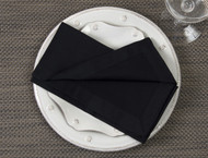 "Black Kora Cotton Collection 20""x20"" Napkins"