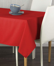 """Milliken Signature Solid Red 60""""x102"""" Tablecloth"""