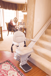 Bruno Elite Stair Chair at bottom of stair