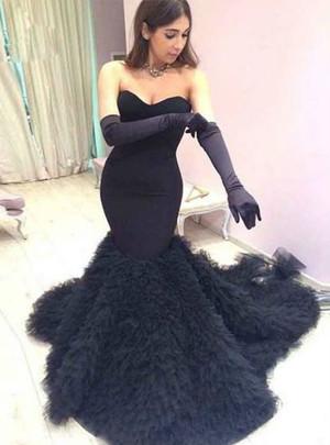 Beautiful black wedding dresses gothic wedding dressesblack sweetheart black mermaid wedding dresses tulle elegant bridal gowns junglespirit Images